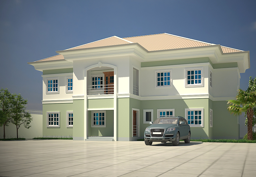 Modern duplex house plans in nigeria for 5 bedroom duplex