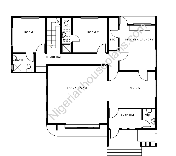 House nigerianhouseplans for 4 bedroom duplex floor plans