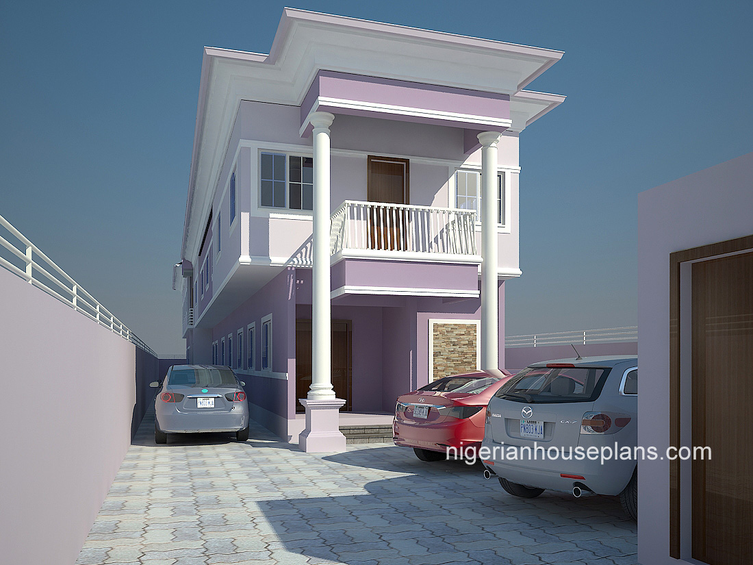 House plans for semi detached flats for Semi duplex house plans