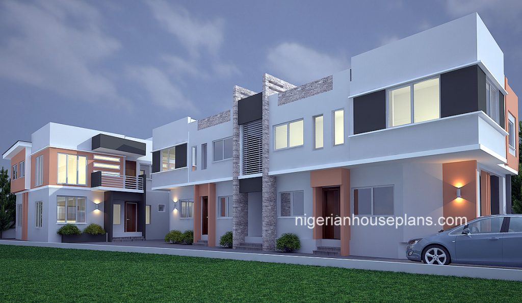 2 bedroom block of flats archives nigerianhouseplans for Duplex bed
