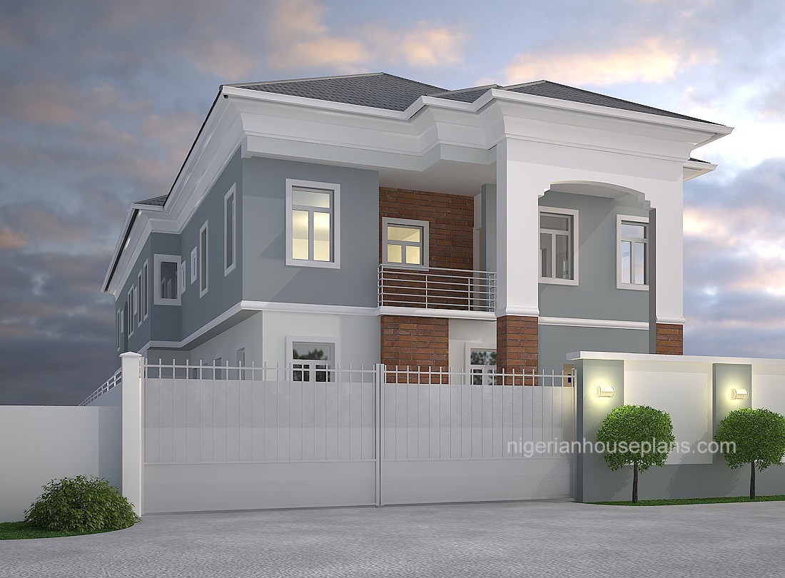 2 bedrooms archives nigerianhouseplans for Duplex house models