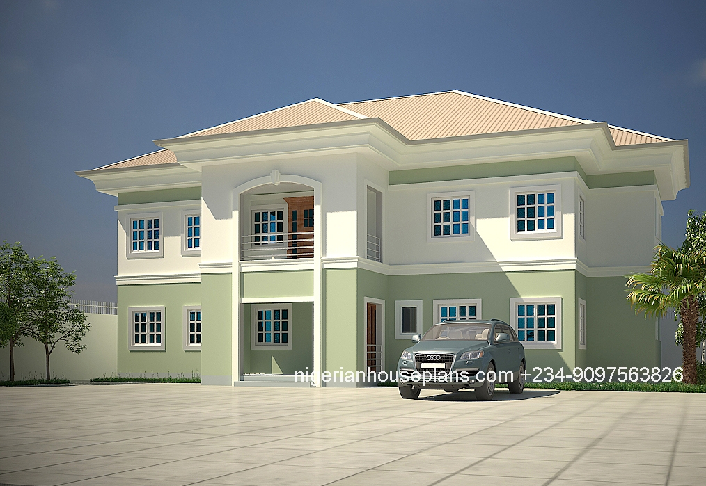 5 bedroom duplex house plans in nigeria escortsea for Cost to build a duplex house