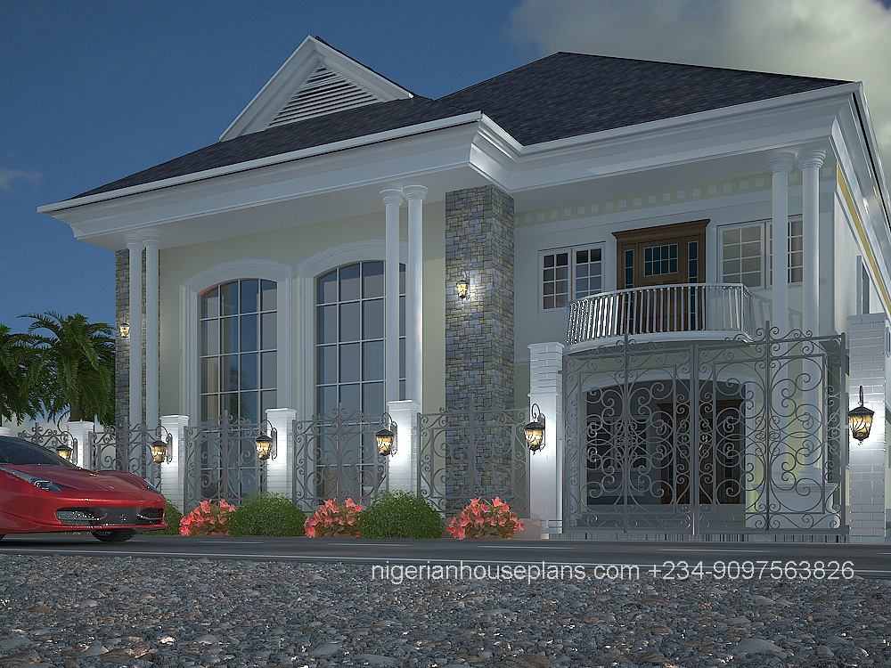 5 bedroom duplex nigerianhouseplans for Modern duplex house plans in nigeria