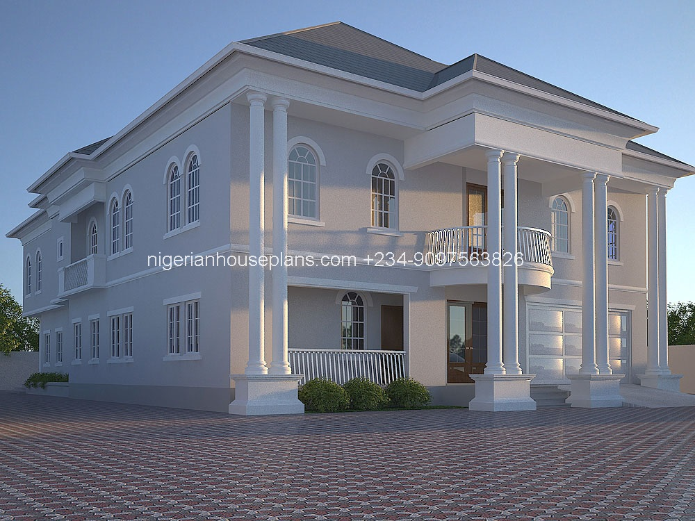 6 bedroom duplex house plans in nigeria escortsea for Duplex project