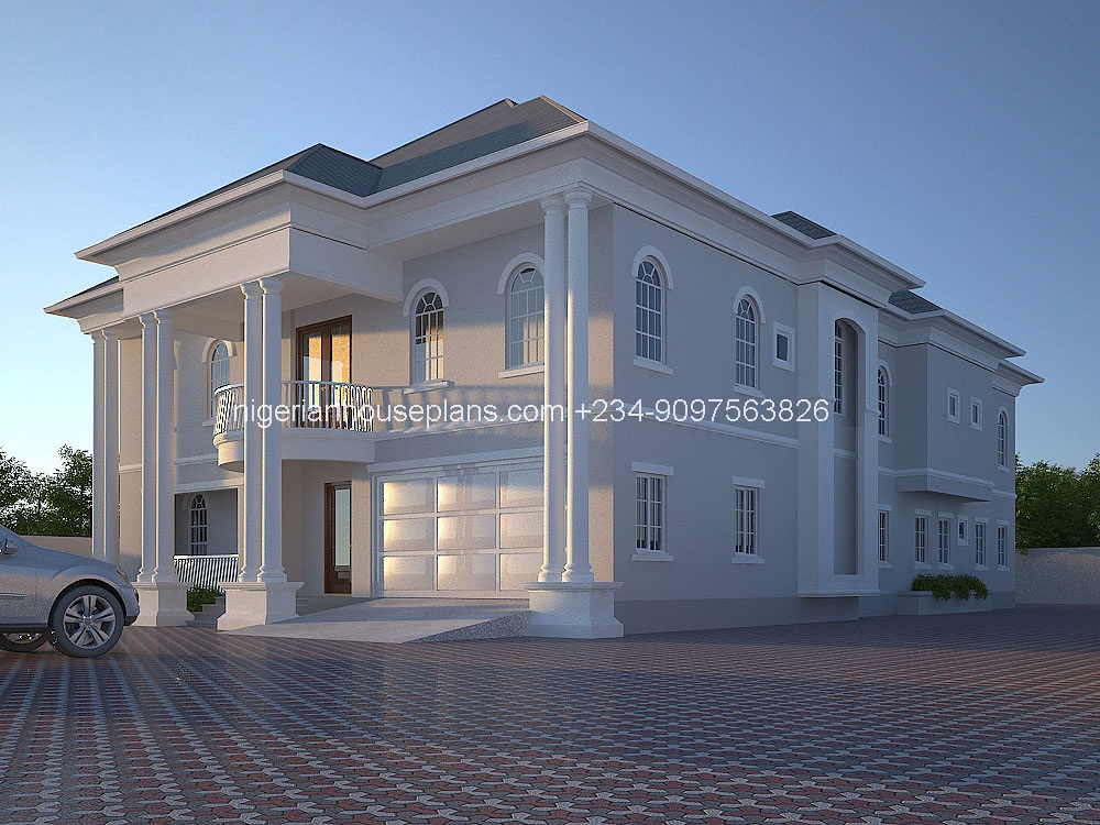 6 bedroom bungalow house plans in nigeria for Modern duplex house plans in nigeria