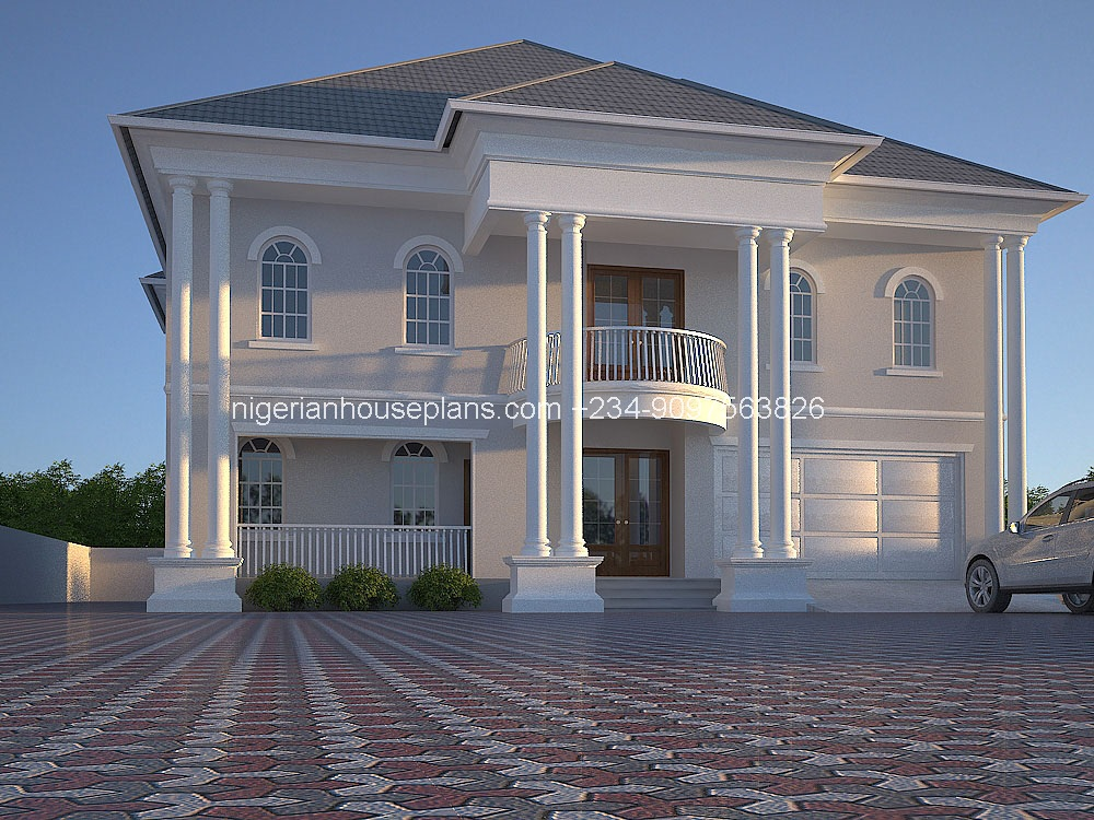 6 bedroom duplex ref nos 6011 nigerianhouseplans for 5 bedroom house designs