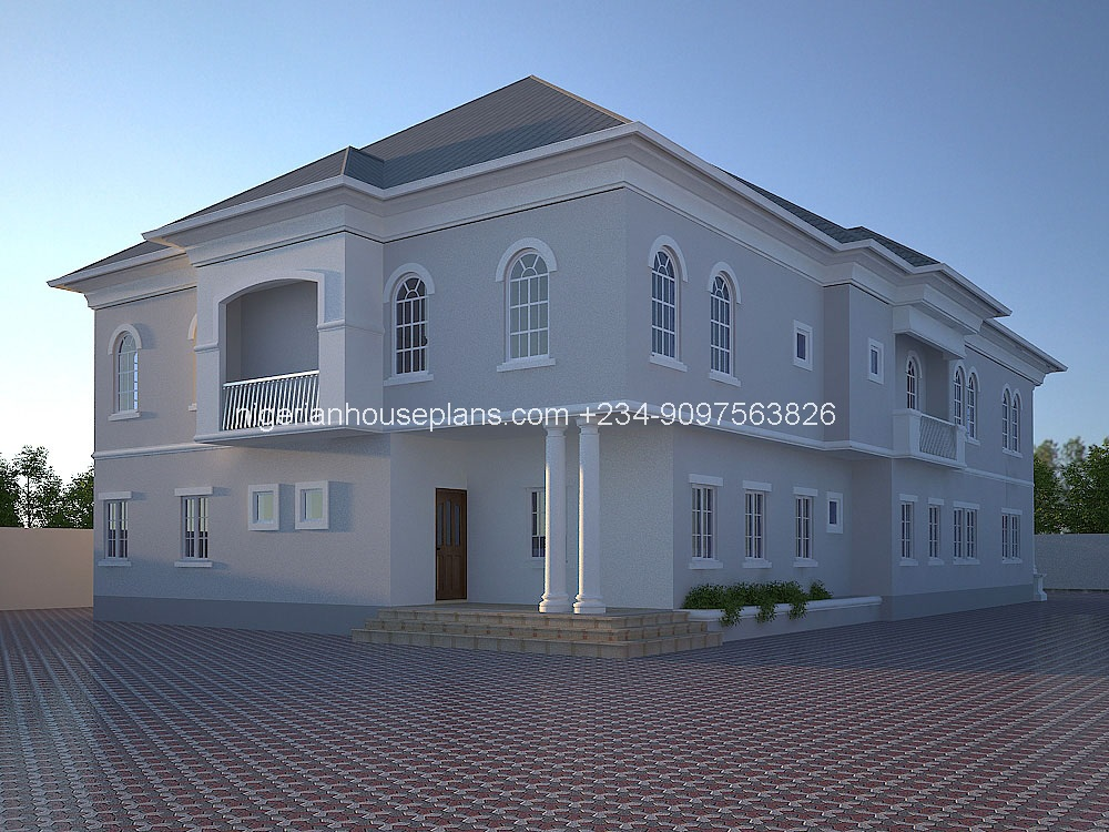 6 bedroom duplex ref nos 6011 nigerianhouseplans for Modern duplex house plans in nigeria