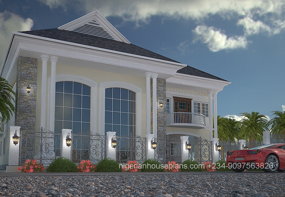 Photo of modern duplex in nigeria joy studio design for Modern duplex house plans in nigeria