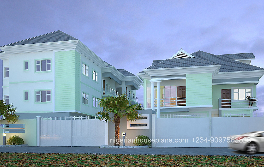 2 3 Bedroom Block Of Flats Ref 5012 Nigerianhouseplans,Decorating Homes For Christmas