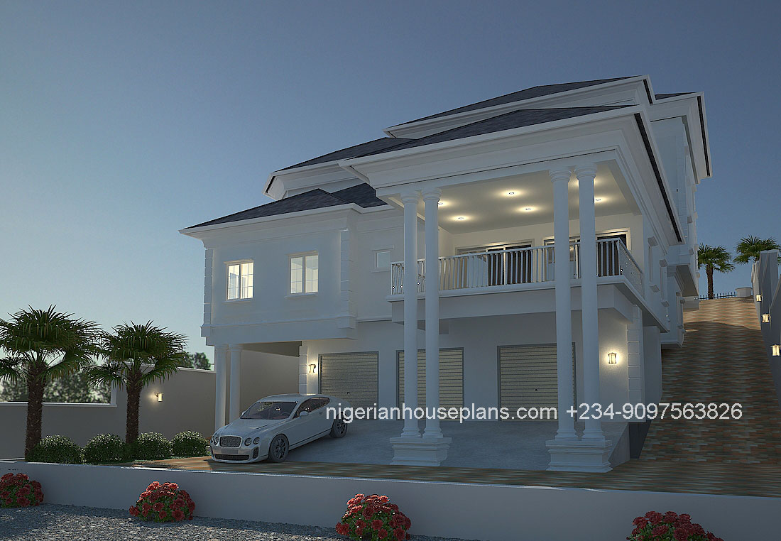 4 bedroom duplex ref 4011 nigerianhouseplans for 4 bedroom duplex design