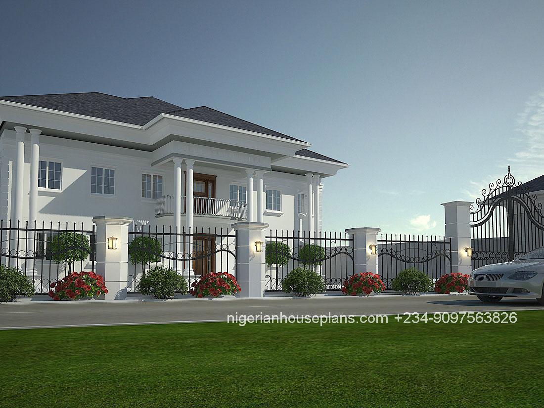 4 bedroom duplex ref 4011 nigerianhouseplans for Nigerian house plans