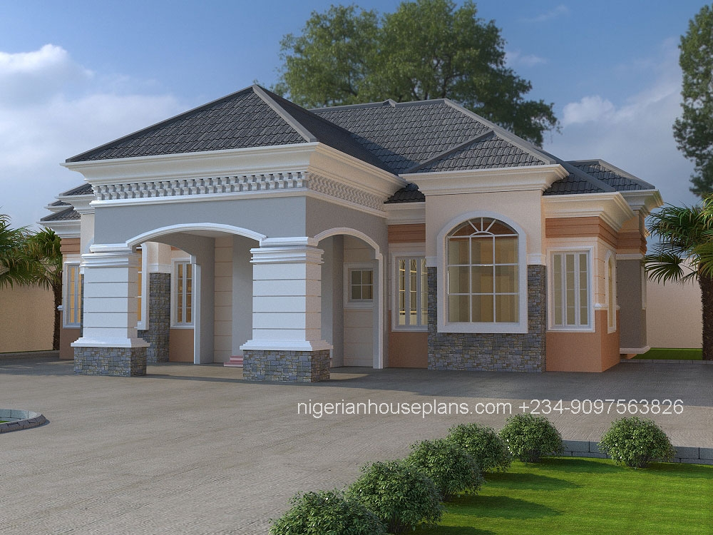 nigerian-house-plans-3-bedroom bungalow