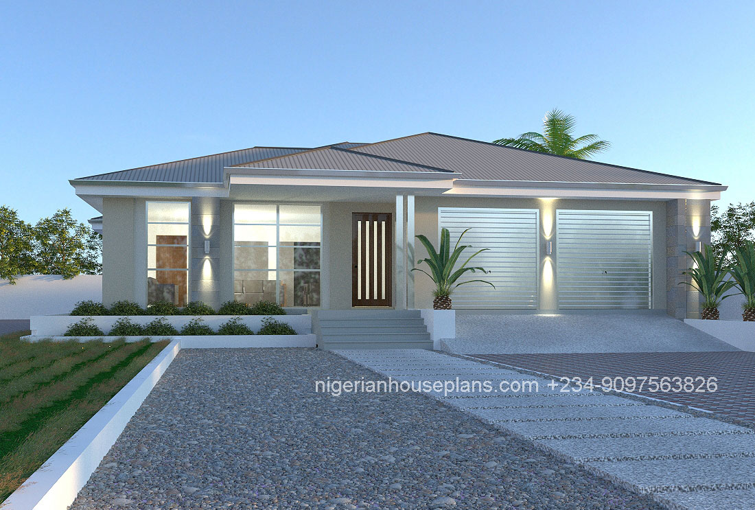 nigerian house plans 3 bedroom bungalow 3021