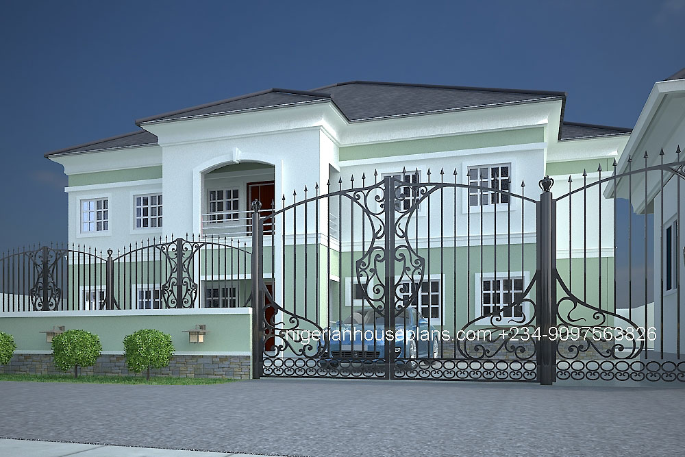 5+ bedrooms Archives - NigerianHousePlans
